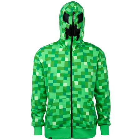 Minecraft Creeper Hoodies (Creeper Premium Zip-up Hoodie)