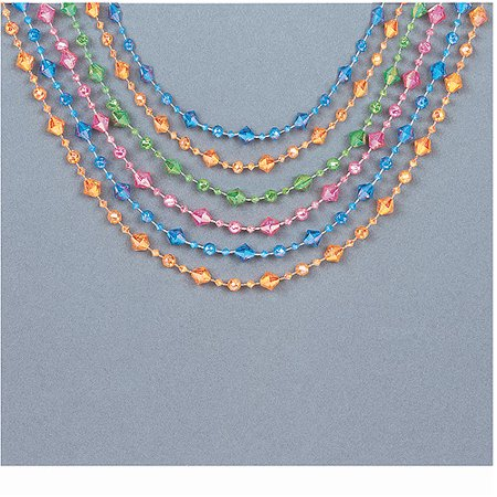 Crystal Party Bead Toss Necklaces, 6-Count