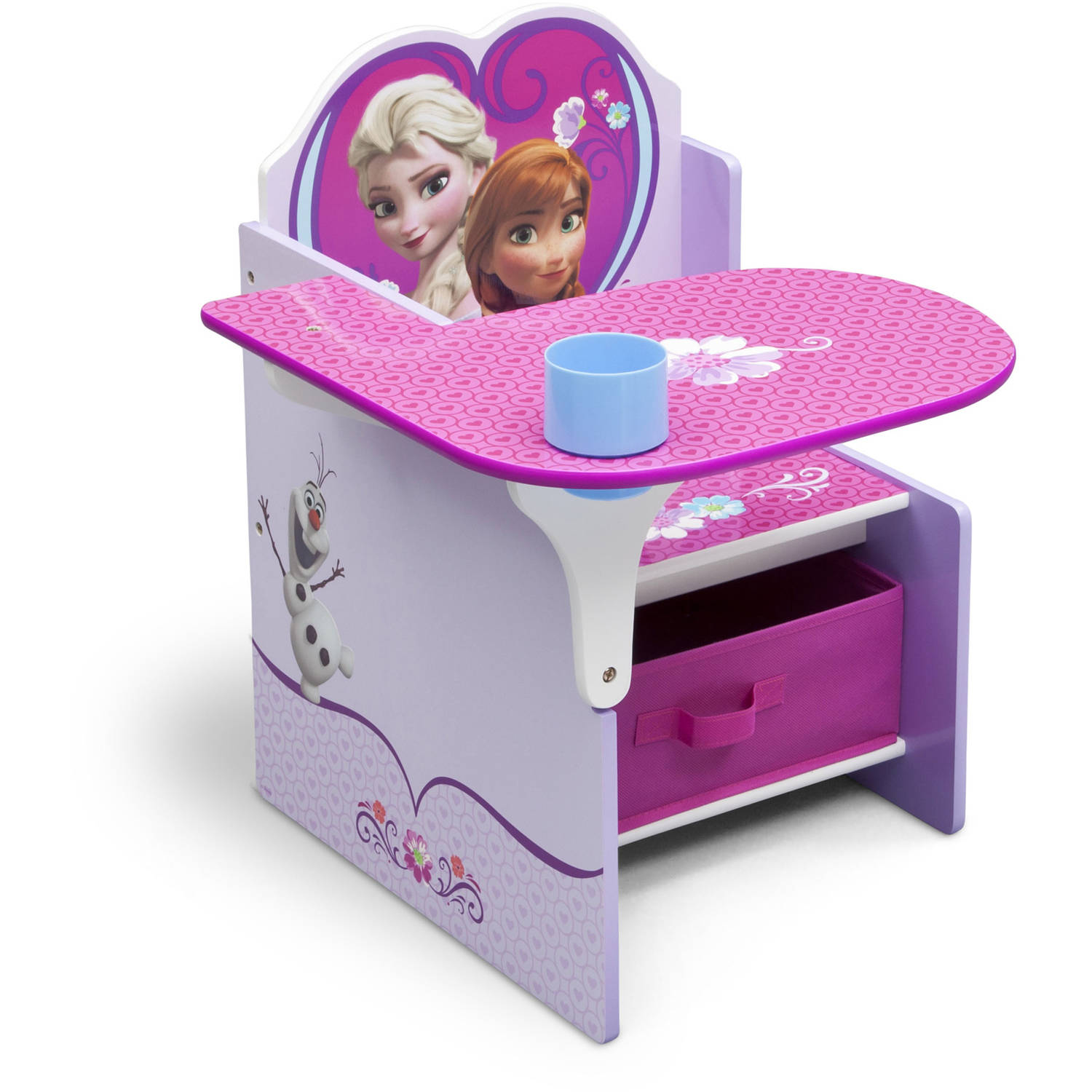 Delta Children Frozen Chair Desk with Storage Bin Walmart – Girls Table and Chair