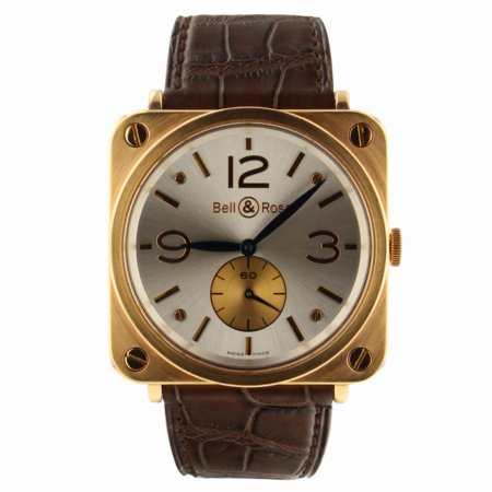 Pre-Owned Bell & Ross Brs BRS-70-R Gold  Watch (Certified Authentic & Warranty)