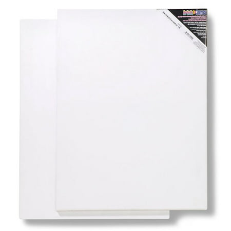 Blank Prestretched Artist Canvas: 18 x 24 inches, 2 pack
