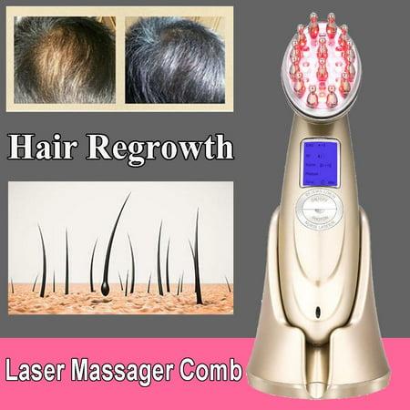 WALFRONT Laser Hair Growth Comb Anti Hair Loss Massager Hair Regrowth Comb Brush, Laser Hair Regrowth Comb,Hair Growth