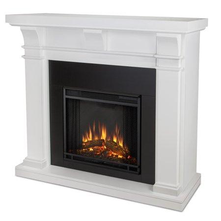 Real Flame Porter Electric Fireplace In White Finish