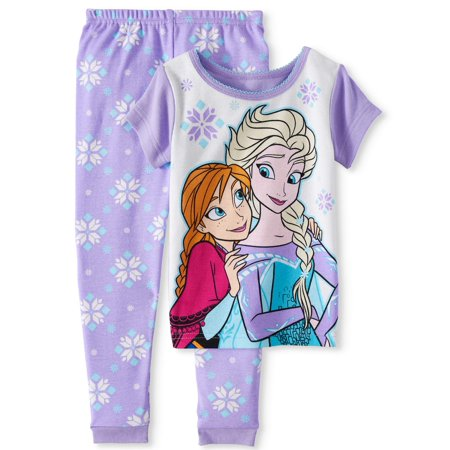 Frozen Cotton tight fit pajamas, 2pc set (toddler girls)](Girls Button Up Pajamas)