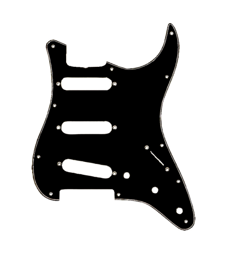 Fender Standard Stratocaster Pickguard, Black by Fender