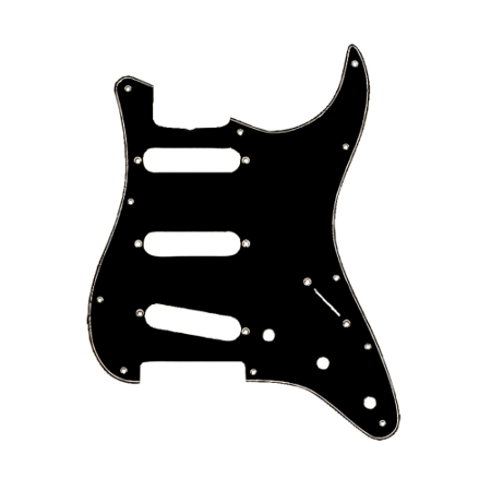 Fender Standard Stratocaster Pickguard (Fender Standard Stratocaster Pickguard, Black)