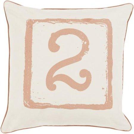"20"" Cream White and Pastel Pink ""2"" Big Kid Blocks Decorativ"