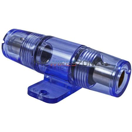 Agu In Line Fuse Holder - Heavy Duty Construction 4 or 8 Gauge Inline AGU Fuse Holder for Car Audio Amp