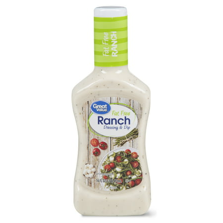 Fat Free Sweet - (4 Pack) Great Value Ranch Dressing & Dip, Fat Free, 16 Fl Oz