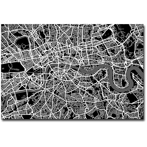 "Trademark Art ""London Street Map I"" Canvas Wall Art by Michael Tompsett"