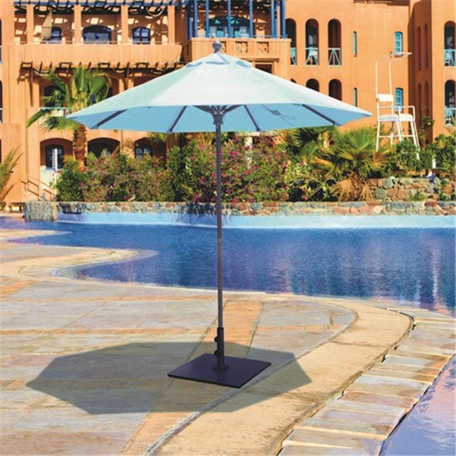 Galtech 7.5 ft. Antique Bronze Deluxe Commercial Use Umbrella - Mandarin Orange Suncrylic