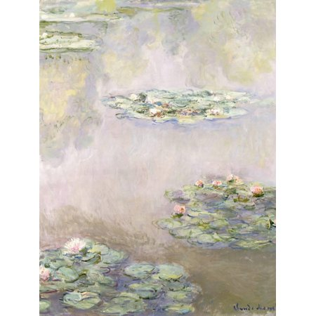 Nympheas, 1908 Pastel Impressionist Flower Water Lilies Pond Painting Print Wall Art By Claude (Claude Monet Water Lily Pond)