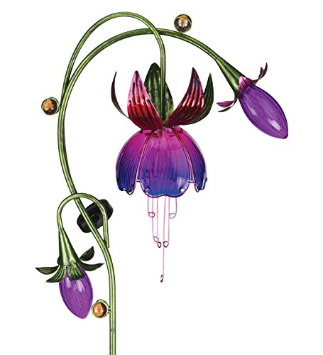 Regal Art & Gift 16 Inches x 6 Inches x 38 Inches Solar Fuchsia Stake Purple Pink Garden Decor