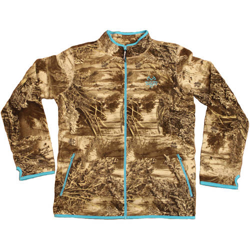 Women's Fleece Camo Full-Zip Jacket, Available in Multiple Patterns