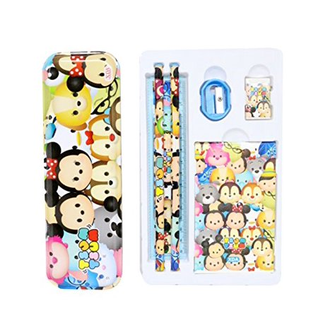 Tsum Tsum Character Multicolor Stationery School Set in Box