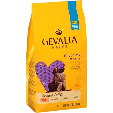 Gevalia Kaffe Chocolate Mocha Mild Roast Ground Coffee, 12 oz (340g)