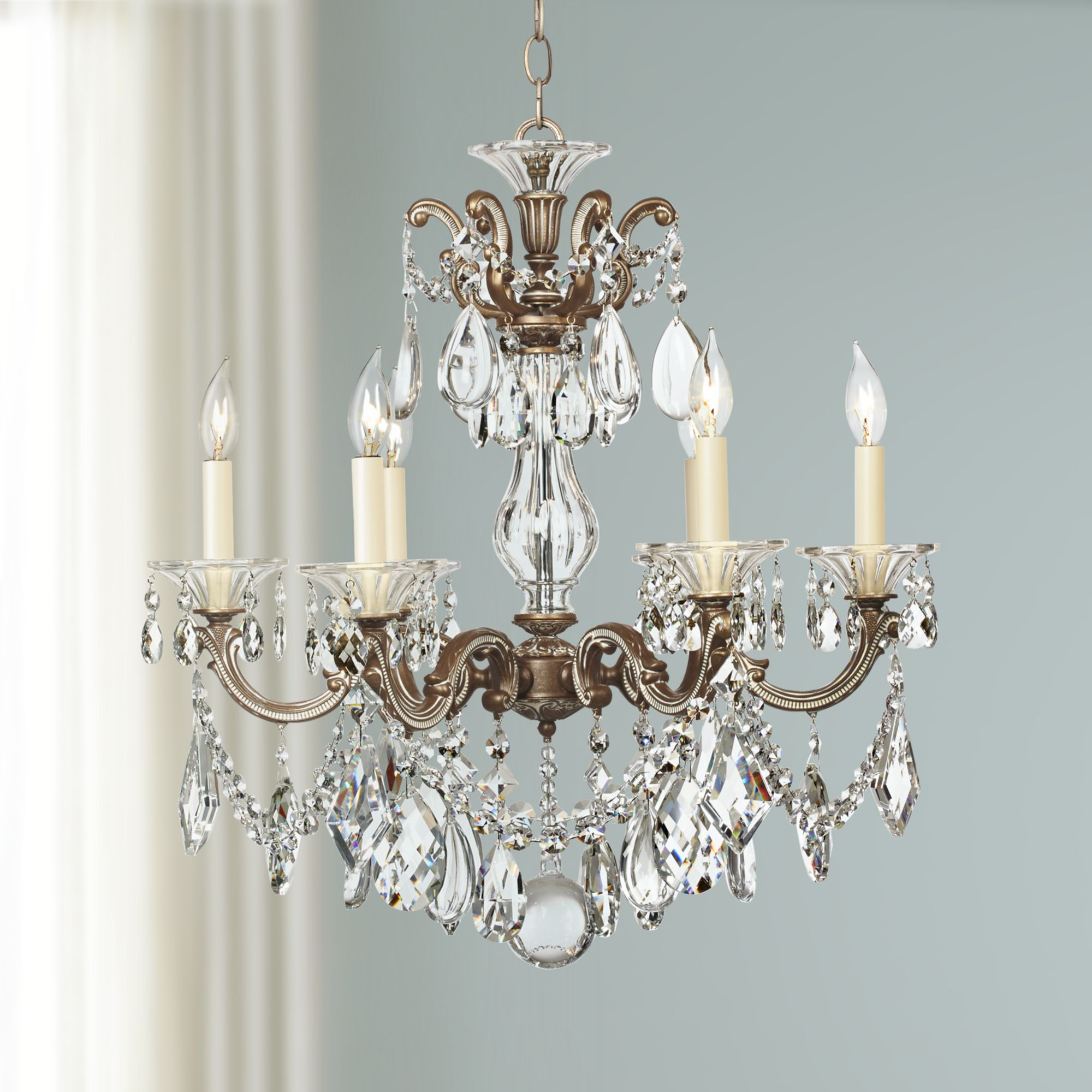 Schonbek La Scala Six Light Crystal Chandelier by Schonbek