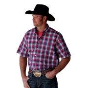 Cinch Western Shirt Mens S/S Logo Button Pocket White MTW1111170