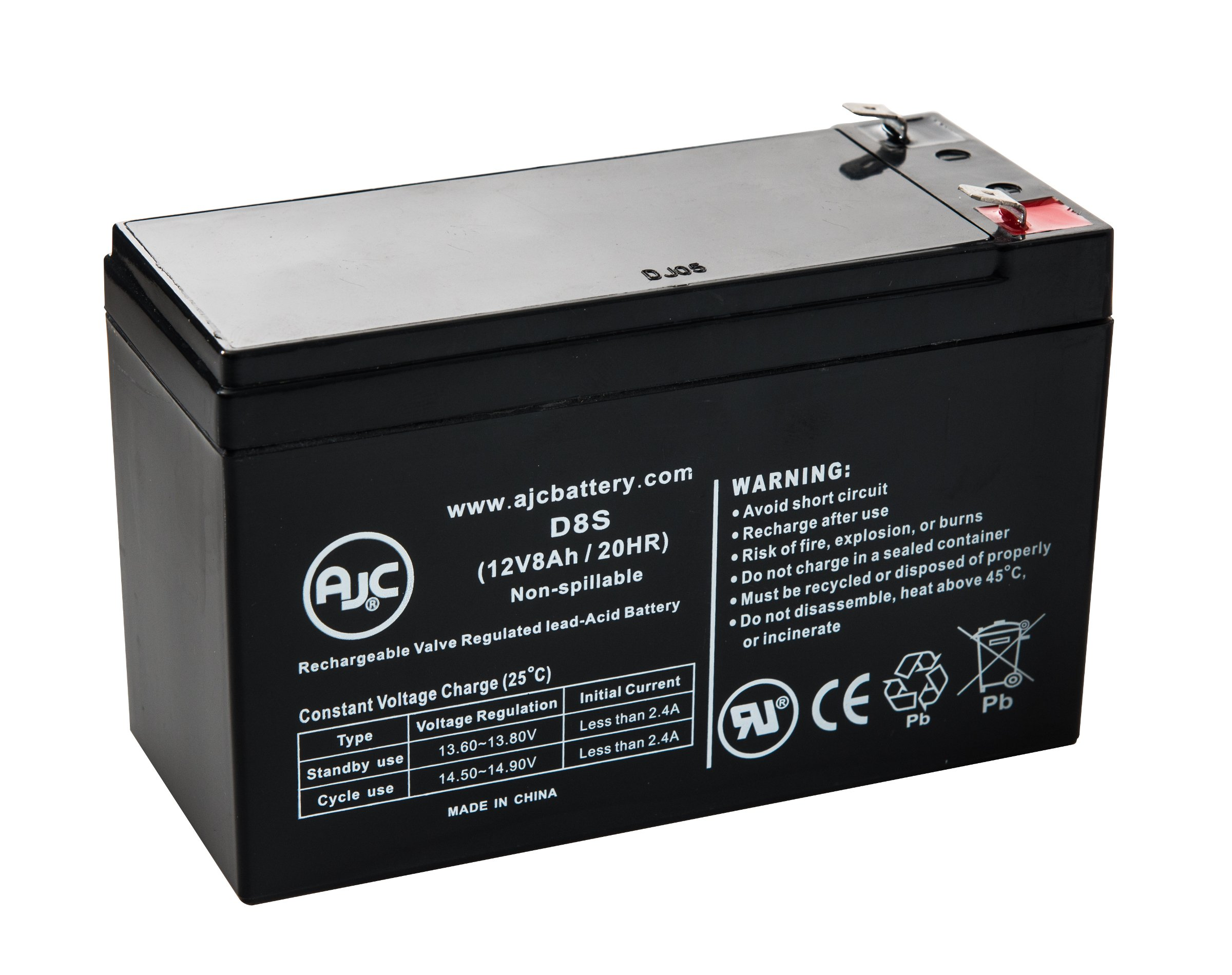 This is an AJC Brand Replacement DLA1500 Dell Smart-UPS 1500VA USB 12V 18Ah UPS Battery