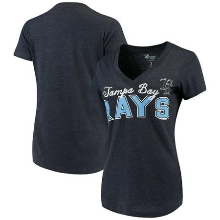 Tampa Bay Rays G-III 4Her by Carl Banks Women's Home Run V-Neck T-Shirt - - Aqua Team Carl