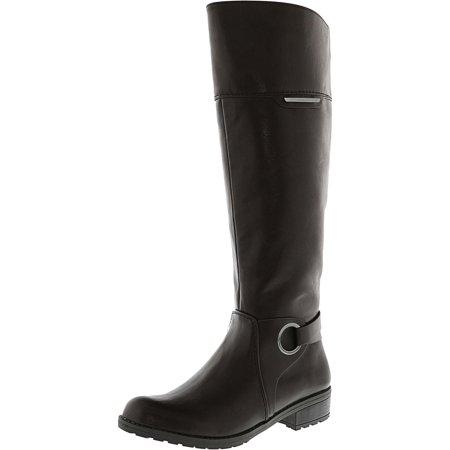 Women's Jadah Dark Brown Knee-High Leather Equestrian Boot - 5.5M