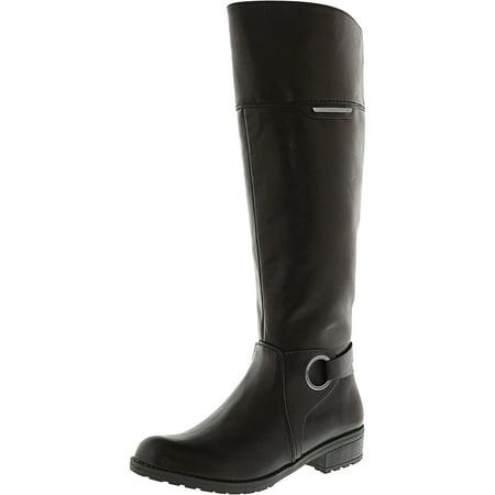Leather Equestrian Boots - Women's Jadah Dark Brown Knee-High Leather Equestrian Boot - 5.5M