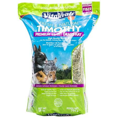 Vitakraft Fresh & Natural Timothy Hay Premium Sweet Grass Hay, 28 oz.