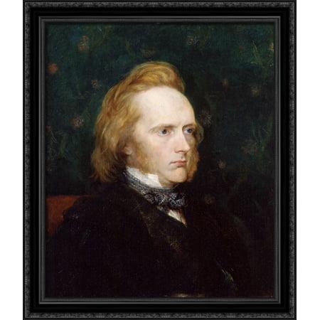 George Douglas Campbell, 8th Duke of Argyll 28x34 Large Black Ornate Wood Framed Canvas Art by George Frederick (Douglas Back Pad)