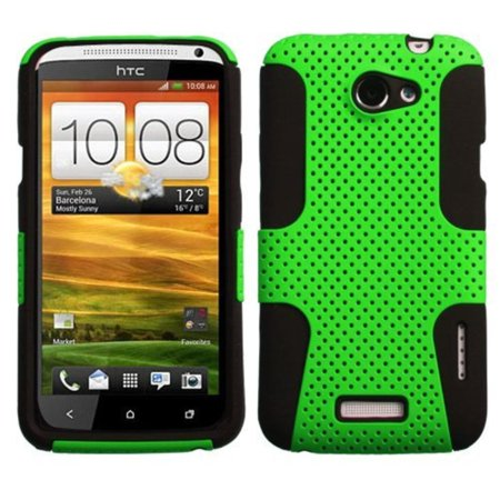 AHTCONEXHPCAST006NP Astronoot Premium Hybrid Case with Durable Hard Plastic Faceplate for HTC One X - 1 Pack - Retail Packaging - Green/Black,.., By Asmyna,USA ()
