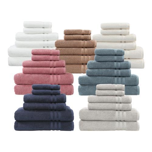 Authentic Hotel and Spa Omni Turkish Cotton 6-piece Terry Bath Towel Set Grey