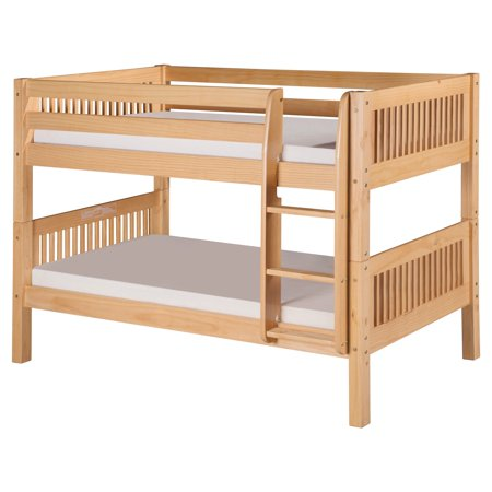 Camaflexi Twin Over Twin Low Bunk Bed Mission Headboard