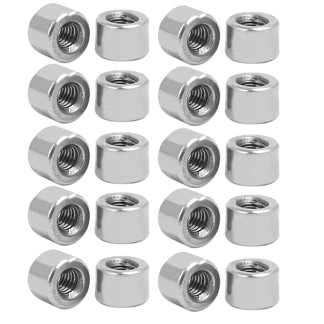 M3x6mmx4.2mm Rod Bar Stud Round Coupling Connector Nuts 10pcs