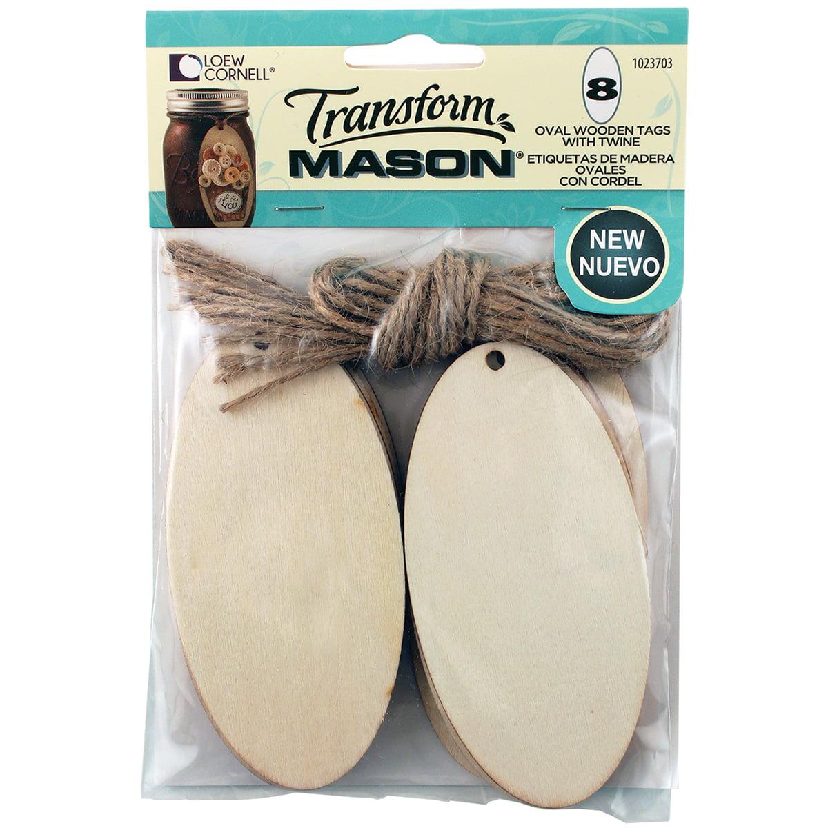 Transform Mason Wooden Tags 8/Pkg-Oval