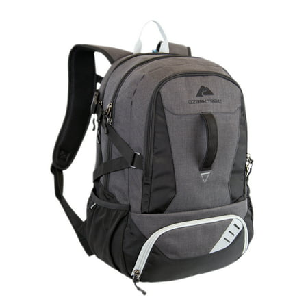 Ozark Trail Shiloh Multi Compartment 35L Backpack with Insulated Cooler Compartment, Solid Pattern