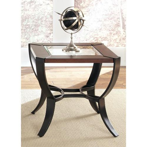Liberty Furniture Industries Liberty Contemporary Metal and Cherry End Table
