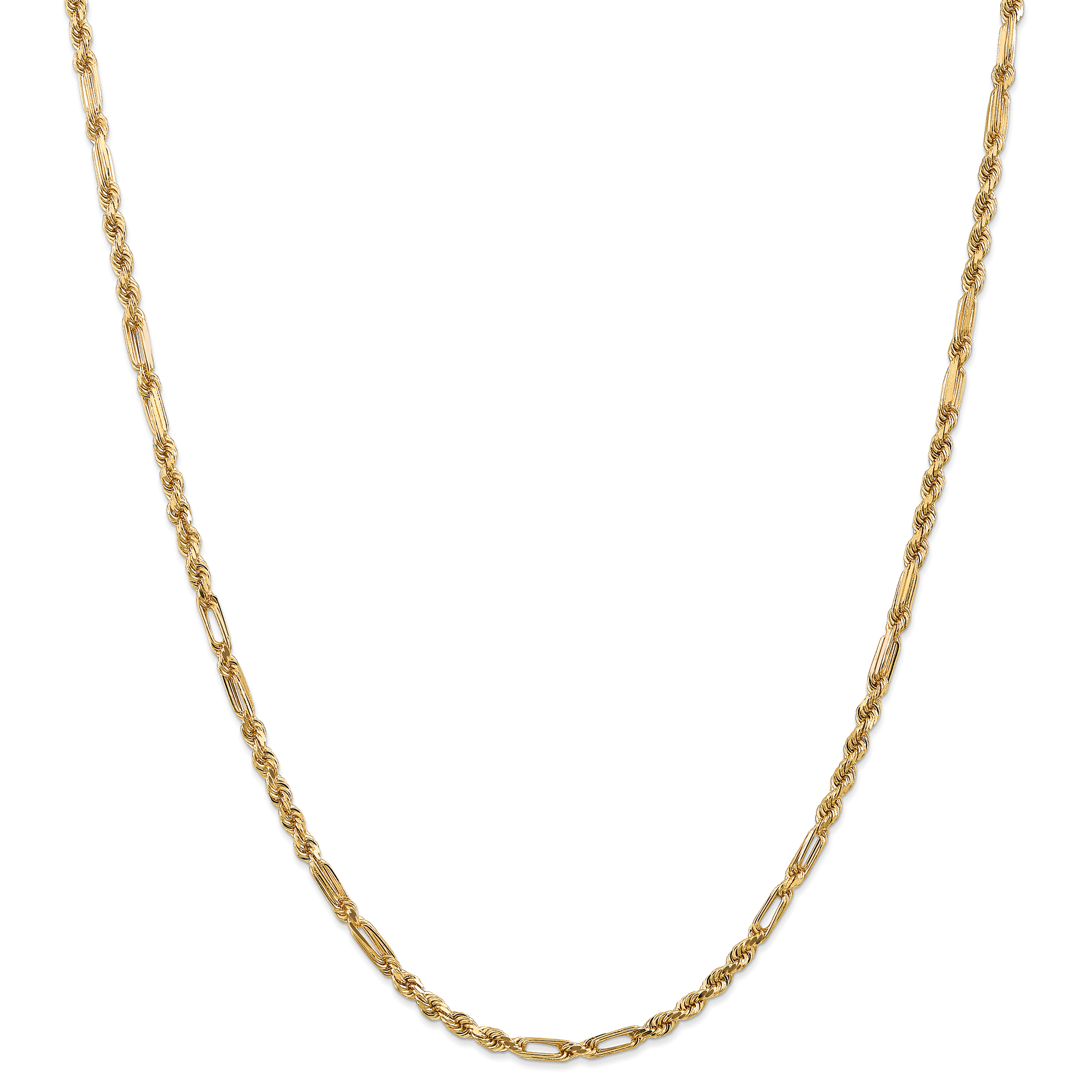 ICE CARATS 14kt Yellow Gold 3mm Milano Link Rope Necklace Chain Pendant Charm Fine Jewelry Ideal Gifts For Women Gift... by IceCarats Designer Jewelry Gift USA