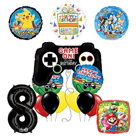 The Ultimate Video Game 8th Birthday Party Supplies