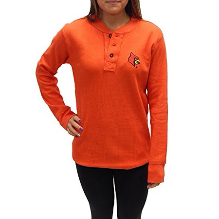University Of Louisville Cardinals Waffle-Knit Thermal Long Sleeve Henly T-Shirt - University Louisville Halloween