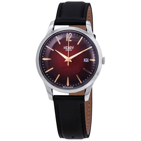 Henry London Chancery Red Dial Unisex Watch HL39-S-0095
