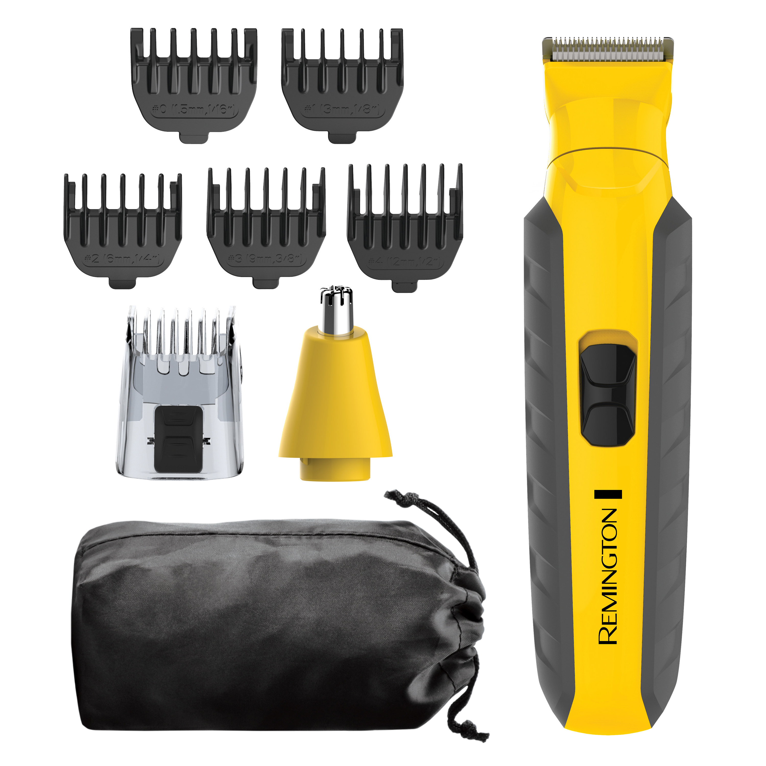 Remington Virtually Indestructible All-in-One Grooming Kit, Yellow/Black, PG6855