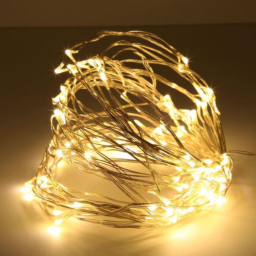 Qedertek Solar Lights Light Crystal Drop Fairy String