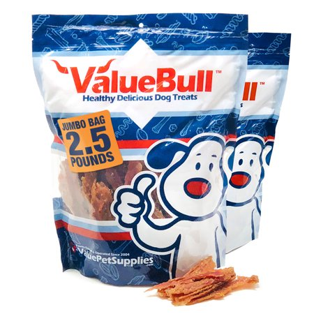 ValueBull Duck Breast Jerky Fillets for Dogs, 5 Pound
