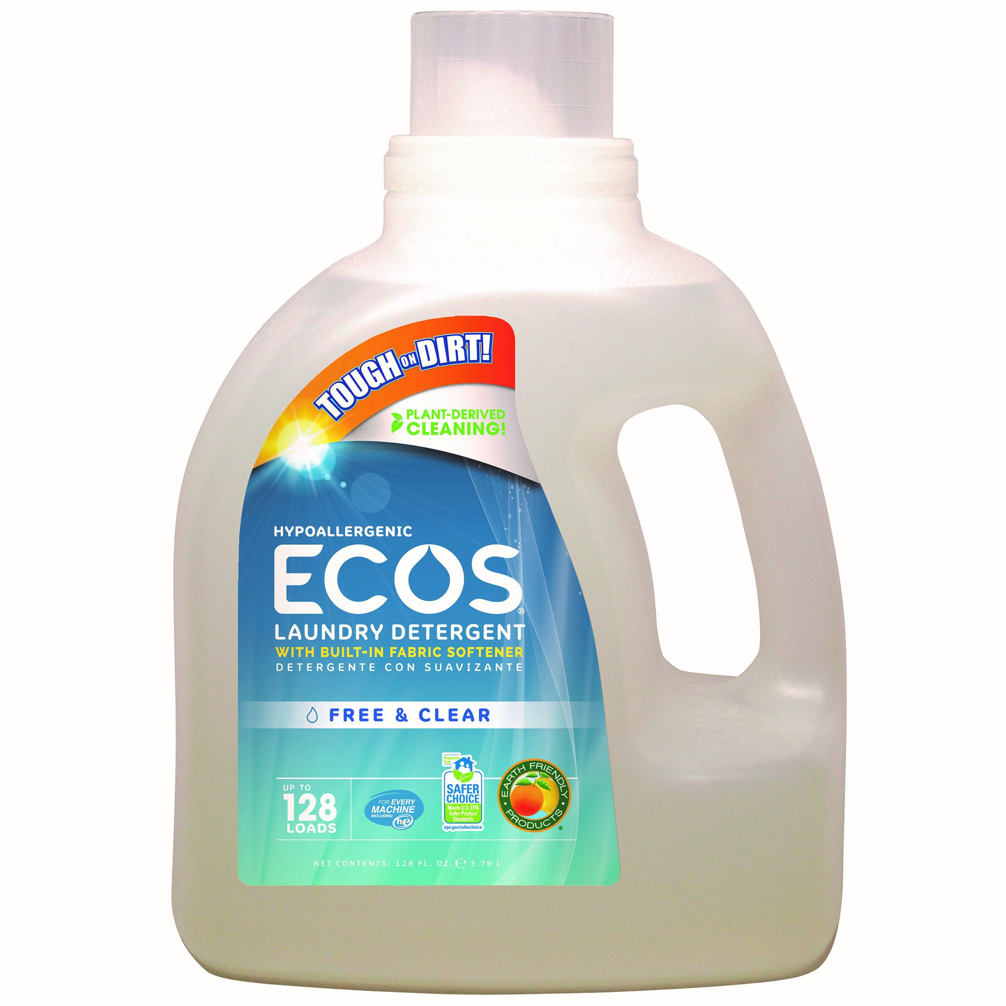 ECOS Liquid Laundry Detergent Free & Clear, 128 Oz