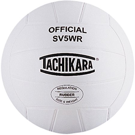 Tachikara SV5WR Top-Grade Rubber Volleyball, White