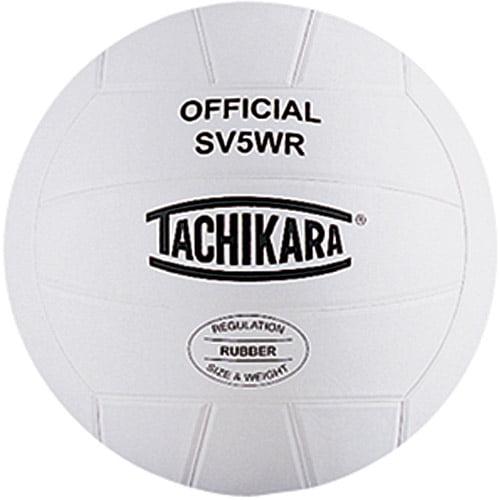 Tachikara SV5WR Top-Grade Rubber Volleyball, White