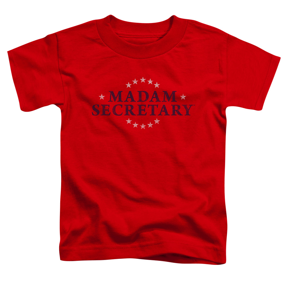 Madam Secretary Distress Logo Little Boys Shirt