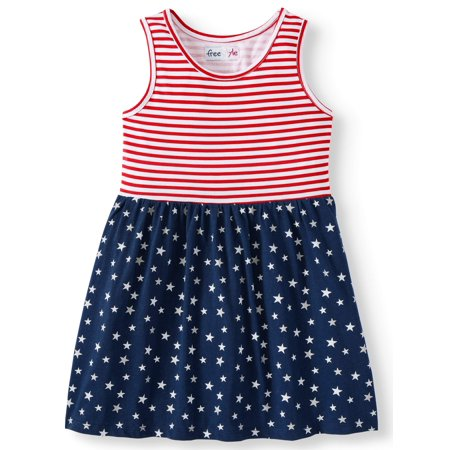 Americana Jersey Fit and Flare Dress (Little Girls & Big Girls) (50s Little Girl Dresses)