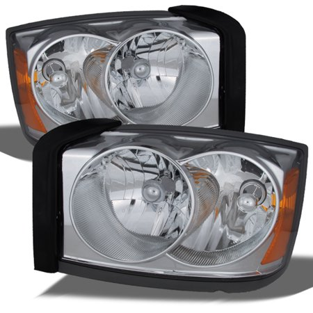 06 Dodge Charger Headlight (Fit 2005-2007 Dodge Dakota Replacement Headlights Left+Right Headlamps 05 06)