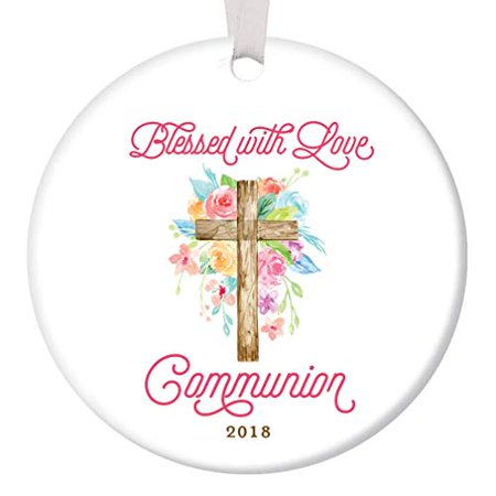 Communion Ornament Christmas 2019 Ceramic Collectible Present Christian Church Blessing Ceremony Sacrament Holiday Tree Decoration 3