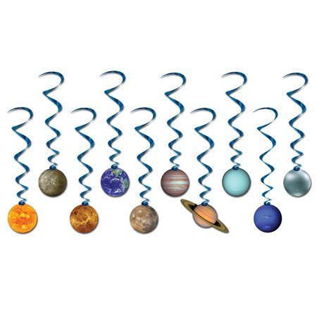 Club Pack of 60 Metallic Blue Solar System Whirl Decorations 38